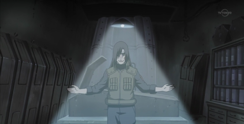 Oro was even willing to cross the line into the forbidden; the cruel.  This was the infamous experiment on sixty children with the Shodaime Hokage's DNA.  One would become Tenzo/Yamato.