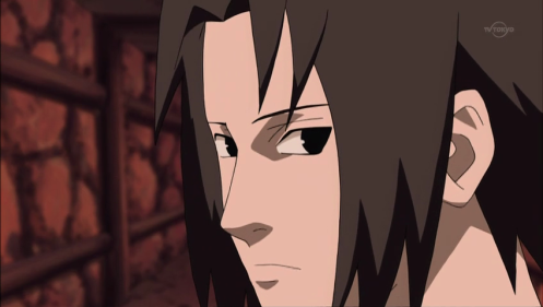 "Are you Sasuke or Oro?  ""Which one do you think?"" Sasuke asks Kabuto."