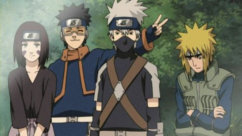 ust a few more episodes before you see this legendary team in action - Rin, Obito Uchiha, Kakashi Hatake and Minato Namikaze (Yondaime Hokage)