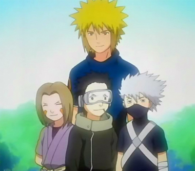 Here they are - and you will see for the first time next week.  Team Minato (btw...Obito does not have the Sharingan - yet)