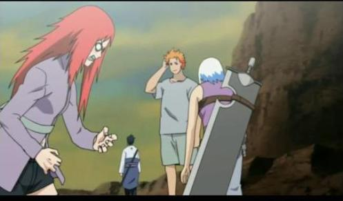 What a pair!  God, oh how I wish Karin would STFU.  I have to agree with you, Suigetsu.