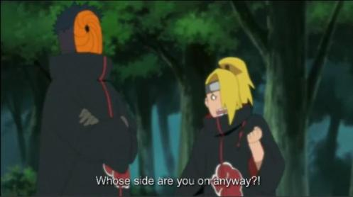Gee, Tobi.  Makes you wonder what's in this for you?  You on Sasuke's side or your Senpai's?