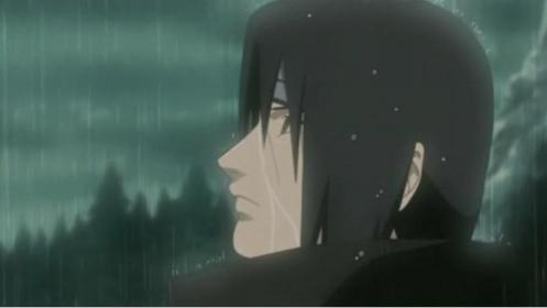 What's he thinking?  So hard to read, ya know.  However, he knows Sasuke is alive and waiting - for him.