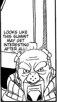 Of course now that there's blood and guts our old man Kage now wants more...