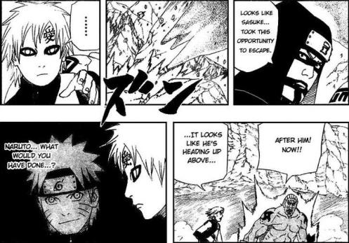 Shi? Kankuro?  You guys win for your sense of the obvious this week.  Gaara?  Don't beat yourself up too much.  Naruto doesn't understand this guy either.